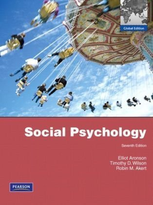 9780135074213: Social Psychology: Global Edition