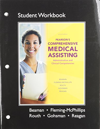 9780135075074: Workbook for Pearson's Comprehensive Medical Assisting