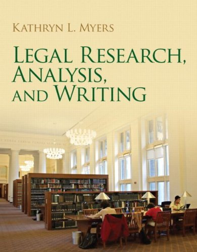 9780135077139: Legal Research, Analysis, and Writing
