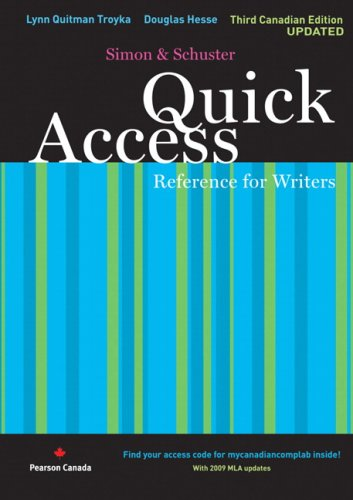 9780135077832: Quick Access Reference for Writers, Updated Third Canadian Edition with MyCanadianCompLab (3rd Edition)