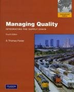 Managing Quality: International Edition: Foster, Thomas