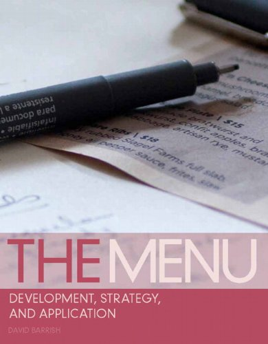 9780135078662: The Menu: Development, Strategy, and Application