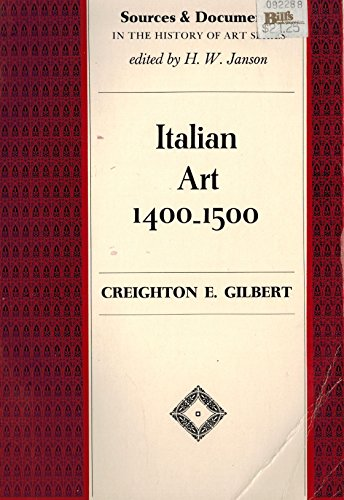 9780135079478: Italian Art, 1400-1500: Sources and Documents (Sources and documents in the history of art series)