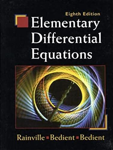 9780135080115: Elementary Differential Equations (8th Edition)