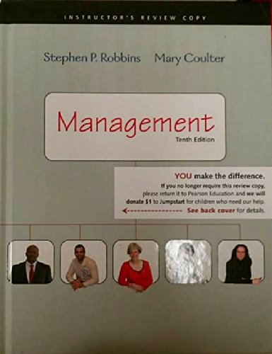 Management with MyManagementLab and Pearson eText (Access Card) (10th Edition) (0135080517) by Robbins, Stephen P.; Coulter, Mary