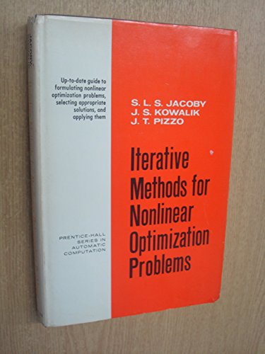 9780135081198: Iterative Methods for Nonlinear Optimization Problems (Prentice-Hall series in automatic computation)