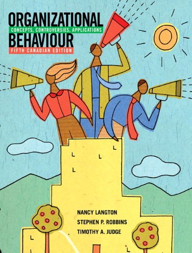 9780135084083: Organizational Behaviour: Concepts, Controversies, Applications, Fifth Canadian Edition with MyOBLab (5th Edition)