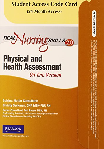 9780135084885: Real Nursing Skills 2.0 - Access Card - for Real Nursing Skills: Physical & Health Assessment (2nd Edition)