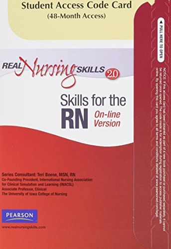 9780135084922: Real Nursing Skills 2.0 for Skills -- Access Card -- for the RN Online Version (2nd Edition)