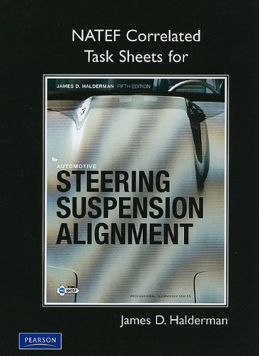 9780135085004: NATEF Task Sheets for Automotive Steering, Suspension and Alignment