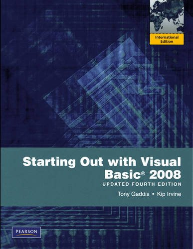 9780135085356: Starting Out with Visual Basic 2008 Update: International Version