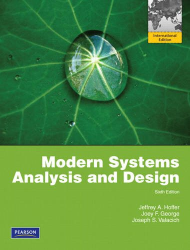 9780135094891: Modern Systems Analysis and Design