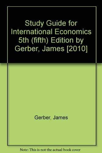 9780135100561: Study Guide for International Economics