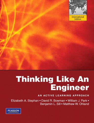 9780135102039: Thinking Like An Engineer: An Active Learning Approach: International Edition
