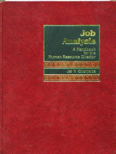 9780135102565: Job Analysis: A Handbook for the Human Resource Director