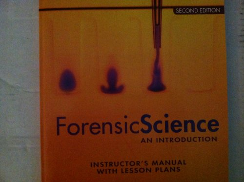 9780135105313: Forensic Science: An Introduction- Instructor's Manual with Lesson Plans