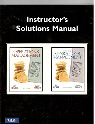 9780135107201: Instructor's Solutions Manual for Principles of Operations Management