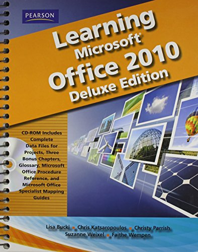 9780135108406: Learning Microsoft Office 2010 Deluxe Editions (Hard Cover) -- CTE/School