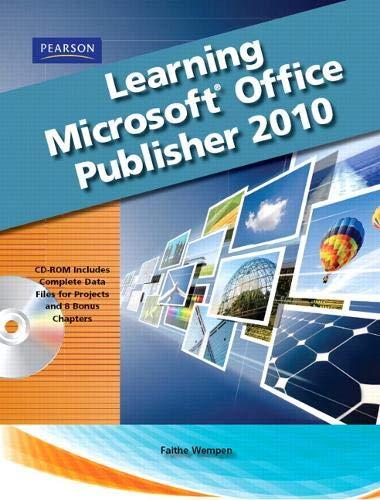 9780135108994: Learning Microsoft Office Publisher 2010, Student Edition