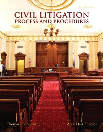 9780135109434: Civil Litigation: Process and Procedures (2nd Edition)