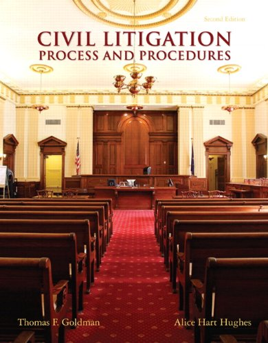 9780135109434: Civil Litigation: Process and Procedures (2nd Edition)