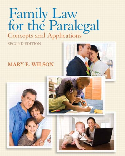 9780135109489: Family Law for the Paralegal: Concepts and Applications (2nd Edition)