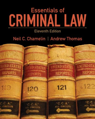 9780135110577: Essentials of Criminal Law (11th Edition)
