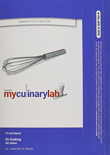 9780135111659: MyCulinaryLab without Pearson eText -- Standalone Access Card -- for On Cooking