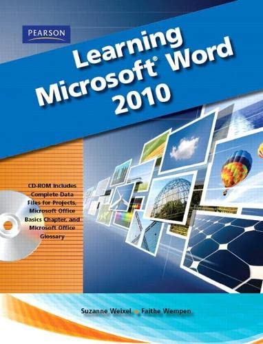 9780135112267: Learning Microsoft Office Word 2010, Student Edition