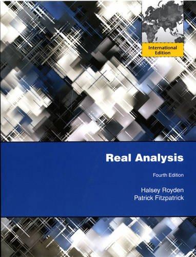 9780135113554: Real Analysis: International Edition