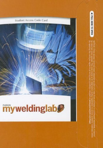9780135114063: MyWeldingLab without Pearson eText -- Access Card