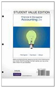 9780135114506: Student Value Edition for Financial & Managerial Accounting Plus MyAccountingLab Student Access Code Card Package (2nd Edition)