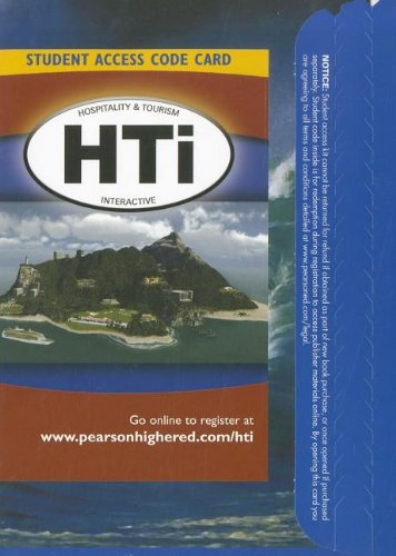 9780135118139: Hospitality and Tourism Interactive (HTi) -- Access Card