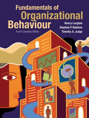 9780135123089: Fundamentals of Organizational Behaviour, Fourth Canadian Edition with MyOBLab (4th Edition)
