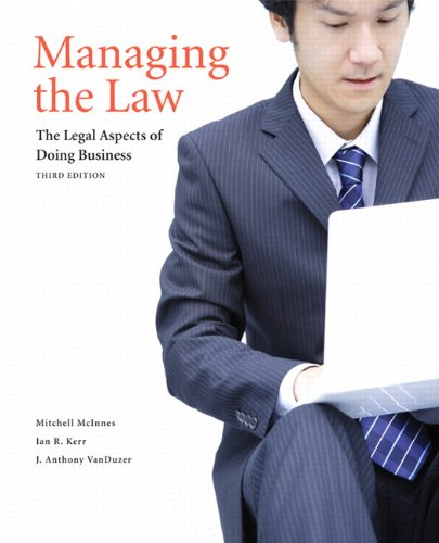 Managing the Law: The Legal Aspects of: Mitchell McInnes, Ian