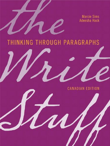 9780135123522: The Write Stuff: Thinking through Paragraphs, Canadian Edition