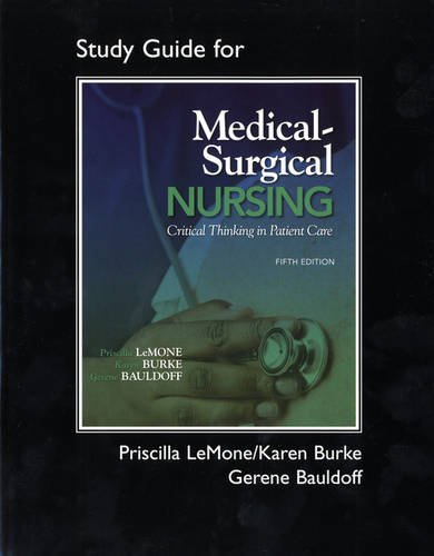 9780135125274: Student Study Guide for Medical-Surgical Nursing: Critical Thinking in Patient Care