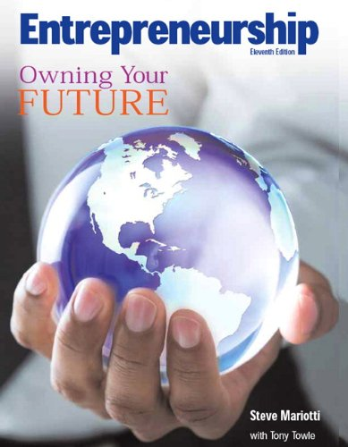 9780135128442: Entrepreneurship: Owning Your Future: How to Start and Operate a Small Business