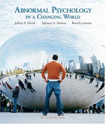 9780135128978: Abnormal Psychology in a Changing World (7th Edition)