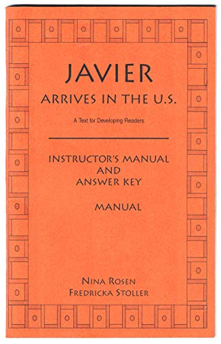 9780135130780: Javier Arrives in the Us: Instruction Manual