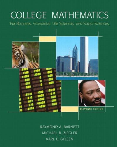 9780135131503: College Mathematics for Business, Economics, Life Sciences & Social Sciences Value Package (includes MyMathLab/MyStatLab Student Access)