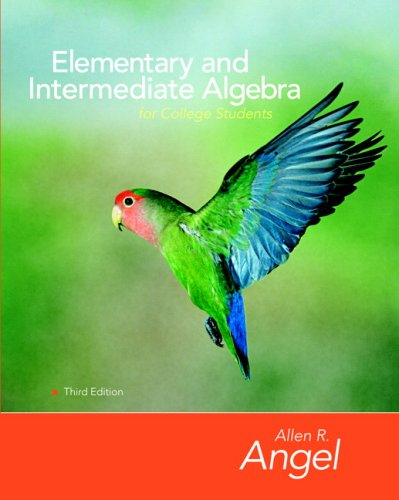 9780135131978: Elementary and Intermediate Algebra for College Students Value Package (includes Student Study Pack) (3rd Edition)