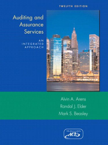9780135132128: Auditing and Assurance Services: An Intergrated Approach and ACL Software (12th Edition)