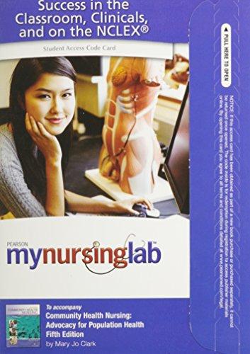 9780135132470: MyNursingLab -- Access Card -- for Community Health Nursing