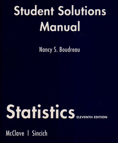 9780135132814: Student Solutions Manual for Statistics