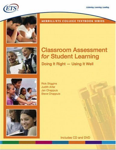 9780135134160: Classroom Assessment for Student Learning: Doing It Right--Using It Well