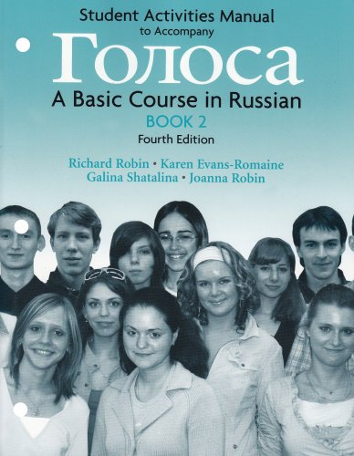 Student Activities Manual for Golosa, Book 2: A Basic Course in Russian (Bk. 2): Richard M. Robin