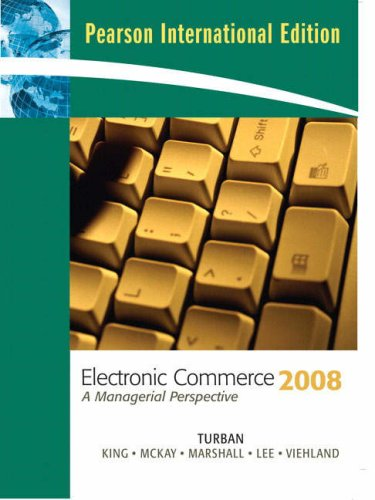 9780135135440: Electronic Commerce: 2008 : a Managerial Perspective