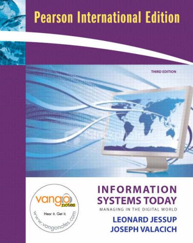9780135139523: Information Systems Today: Managing in the Digital World