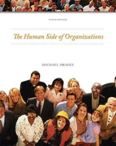 9780135139745: Human Side of Organizations (10th Edition)